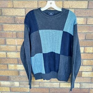 Dockers Color Block Crewneck Sweater 100% Cotton L